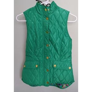 Lilly Pulitzer Getaway Quilted Vest Hot Shot XXS
